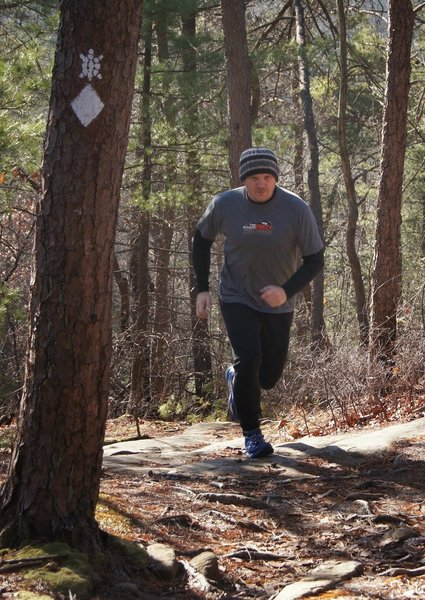 Tackling another roller on the Sheltowee Trace in Red River Gorge