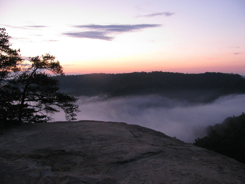 View from Lookout Point at Natural Bridge