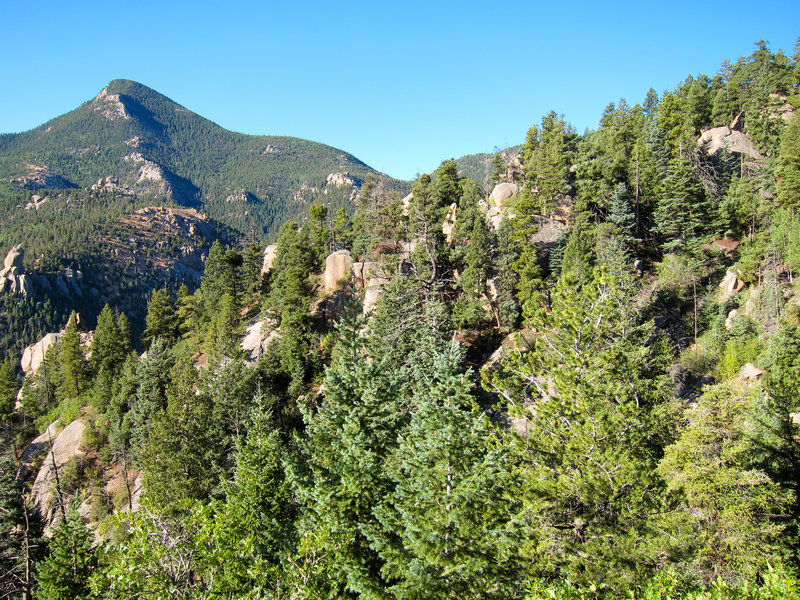 View from Pikes Peak Barr Trail