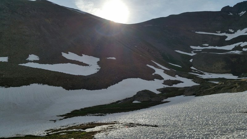 Sunrise in the upper American Basin