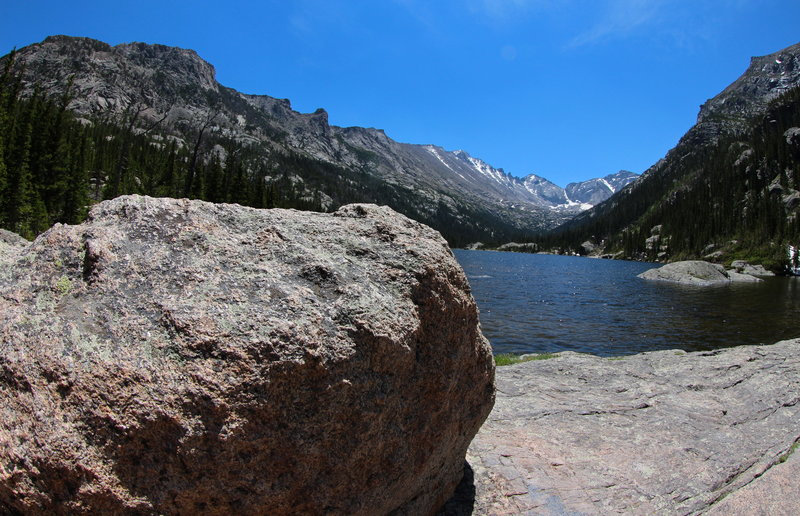 From the shores of Mills Lake, Rocky Mountain National Park