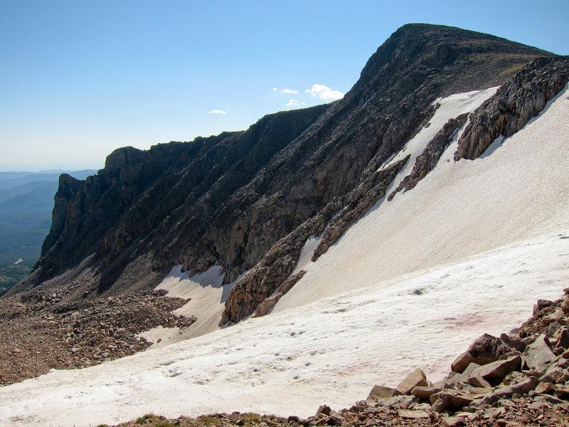 Hallett Peak and Tyndall Glacier in Rocky Mountain National Park