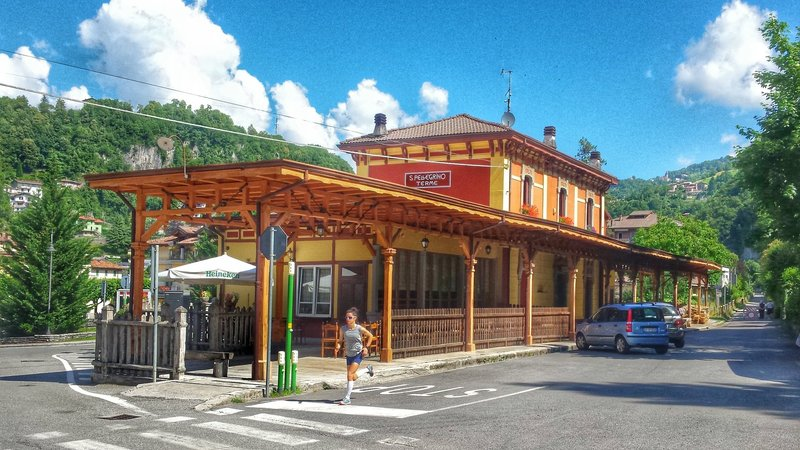 Passing by the San Pellegrino train station