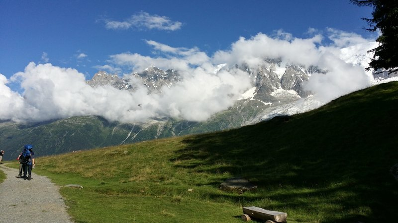 Looking out at the mountains above Merlet.