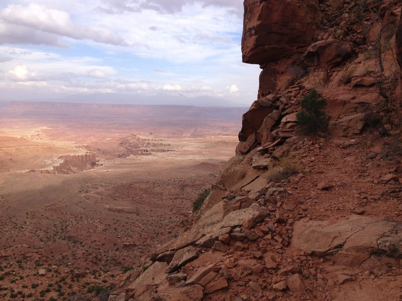 Looking back at the White Rim during the climb back out.