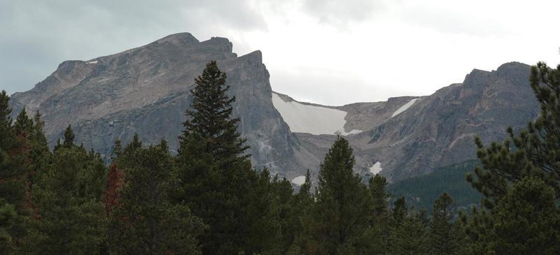 Hallett & Flattop Peaks from Sprauge Lake