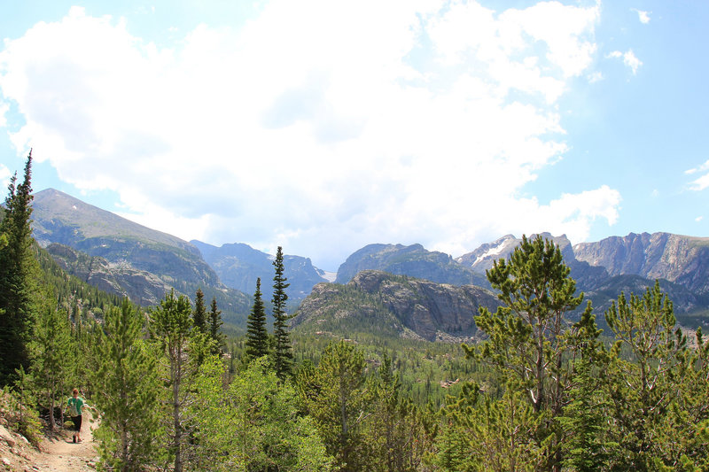 Heading west on North Longs Peak Trail (photo by daveynin)