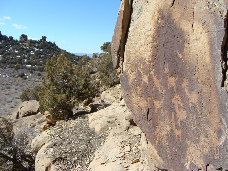 A glimpse of the petroglyphs.