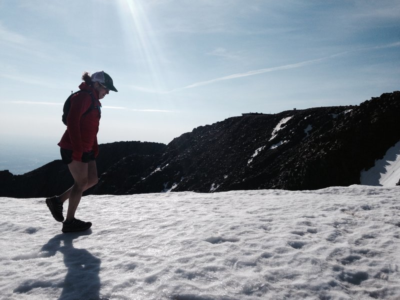 One last snowfield before the summit