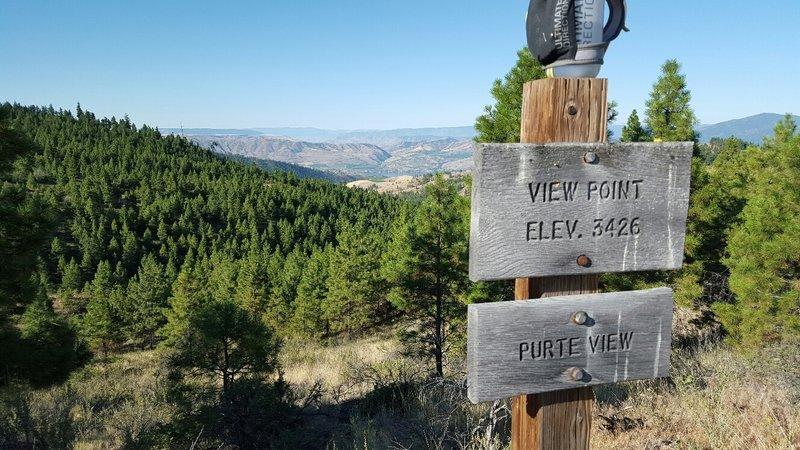 View of Lake Chelan on Eagle Ridge Trail