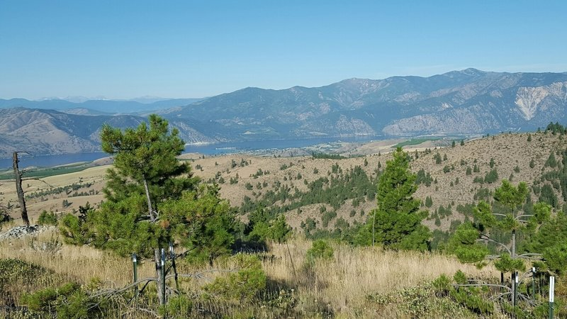View of Lake Chelan near top of ridge