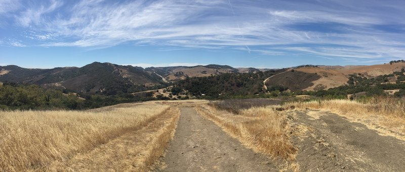 View of the valley from the Gaviota Peak Fire Trail