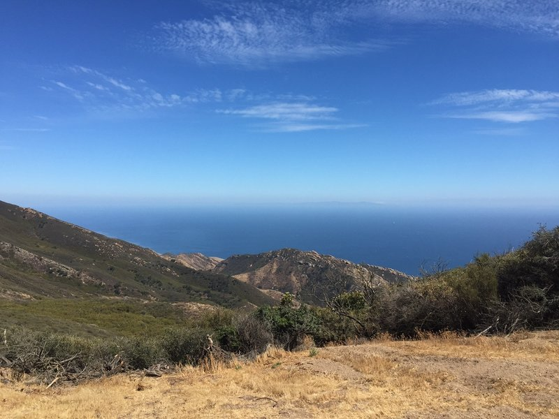 A view of the ocean from the top of the Gaviota Peak Fire Road