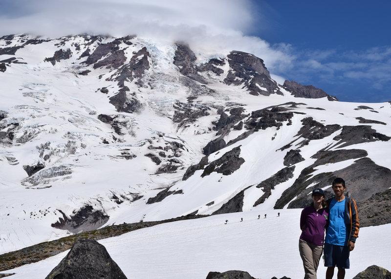Mt Rainier in the background