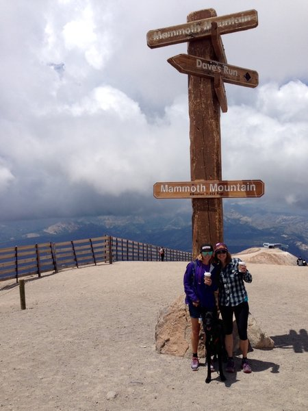 Top of the World, Mammoth Mountain Sign