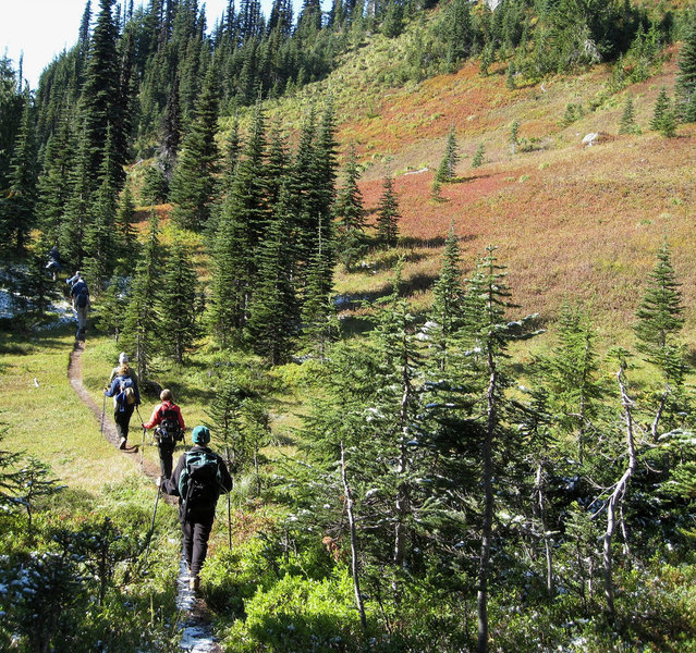 Heading to the Mildred Point trail junction (photo by Brewbooks)