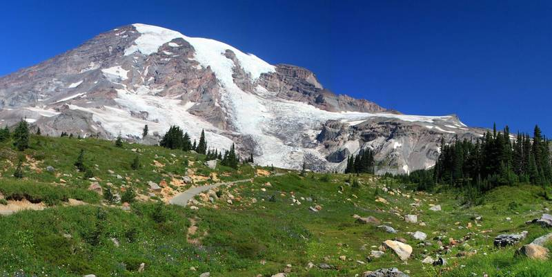 Mt. Rainier from the Panorama Point (photo by Frank Kovalchek)