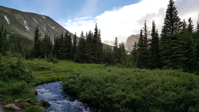 A brook flowing from Lake Isabelle