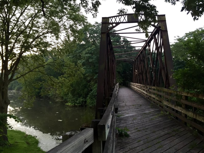 Old trestle going over the I & M Canal.
