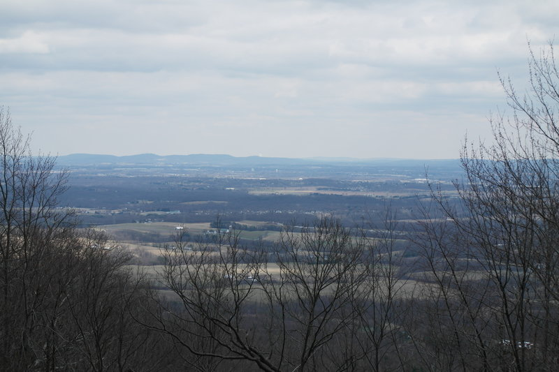 View south of the Cumberland Valley