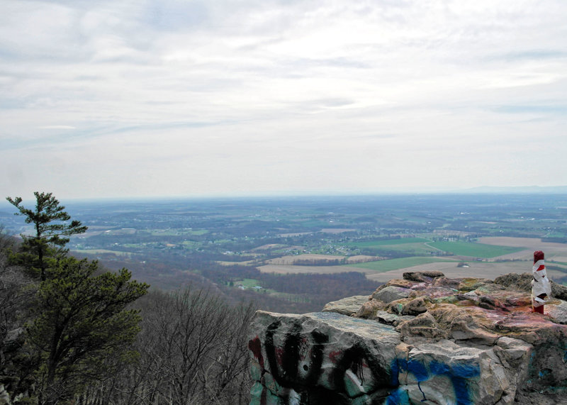 View southwest from High Rock