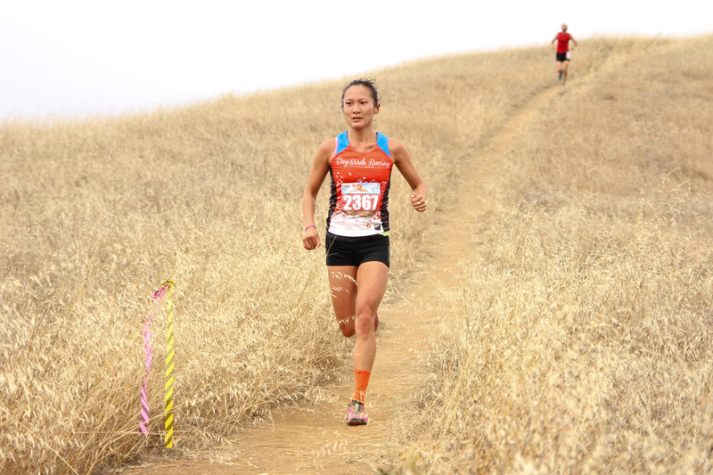 Fighting for the women's lead in the 2015 Table Rock 27k