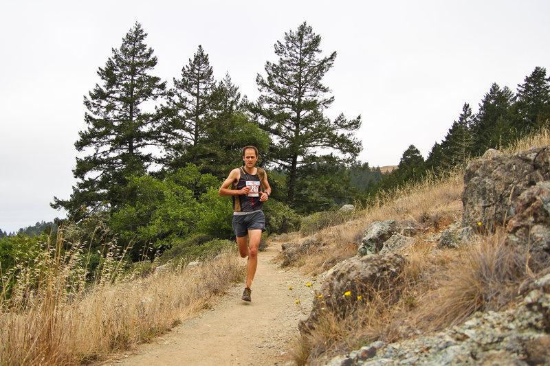 Striding out on the Matt Davis trail.