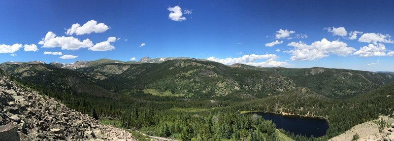 Steep hike up to the old mine overlooking the not so Lost Lake