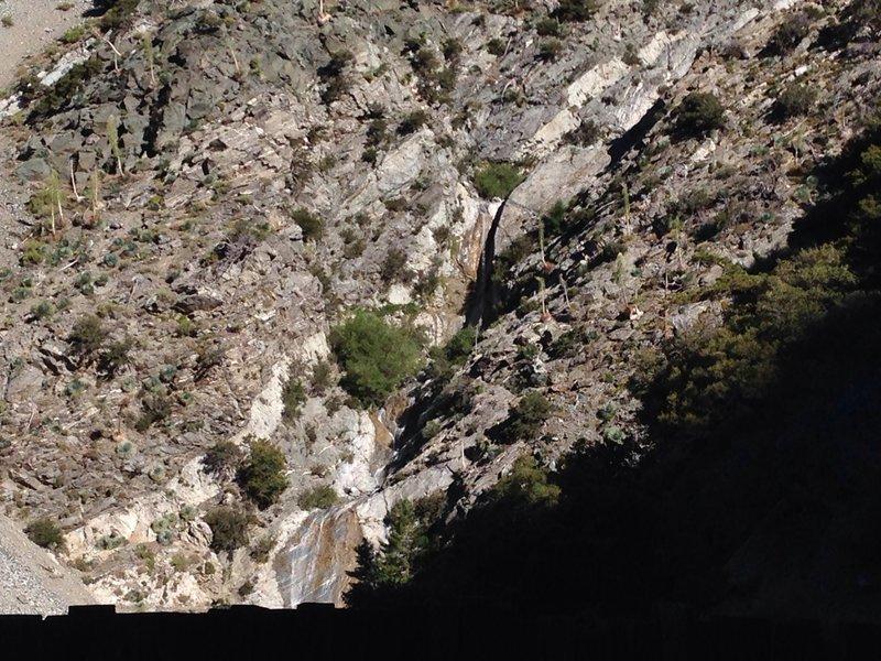 View toward waterfall