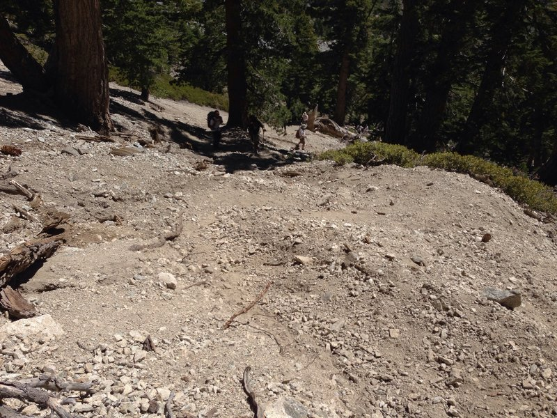 This section of the incline is brutal. Steep, with loose rock.