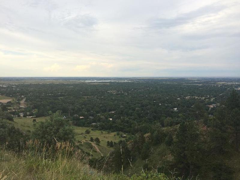 View from the top of Dakota Ridge
