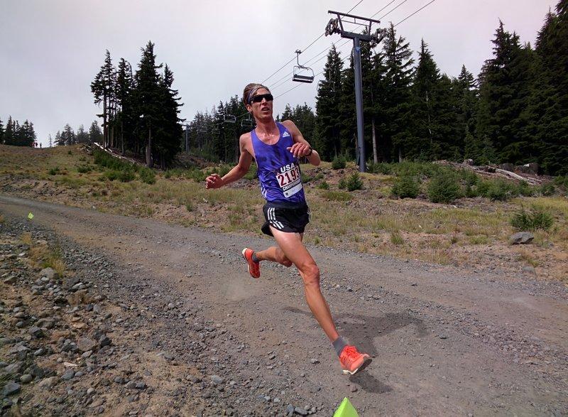 Andy Wacker at the USATF Mountain Running Championships