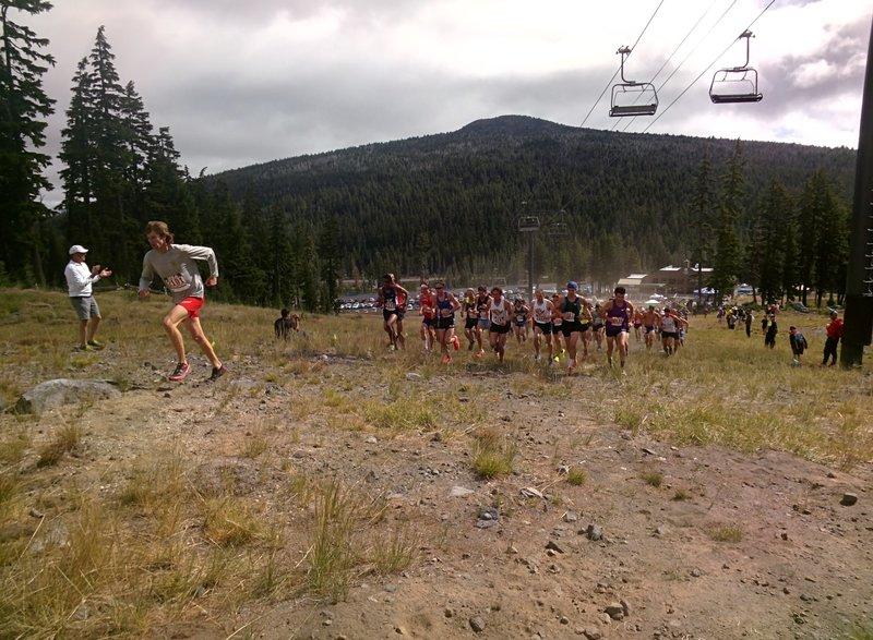 Start of the USATF Mountain Running Championships Men's 12K race