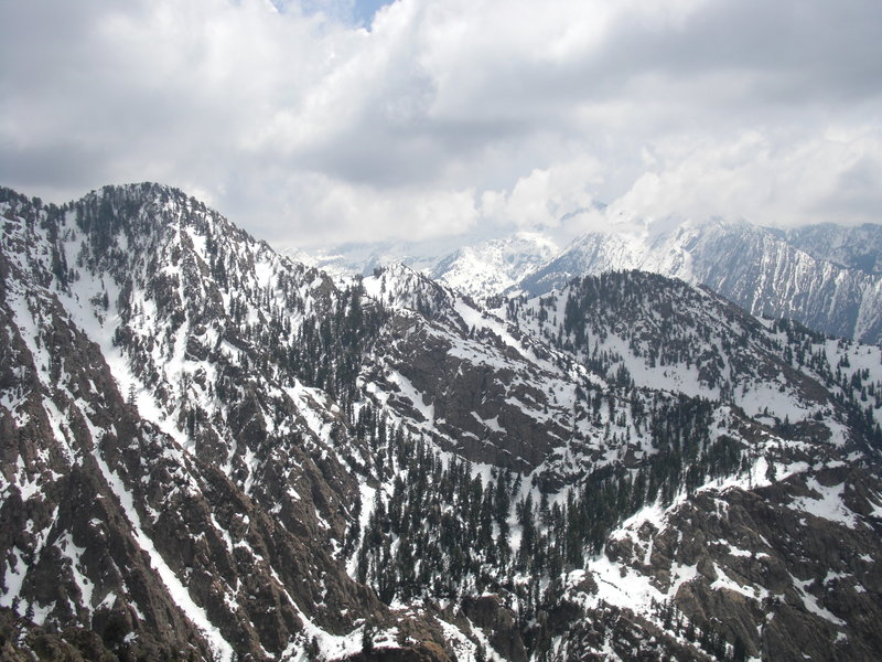 Looking into the Wasatch from Mt. Olympus