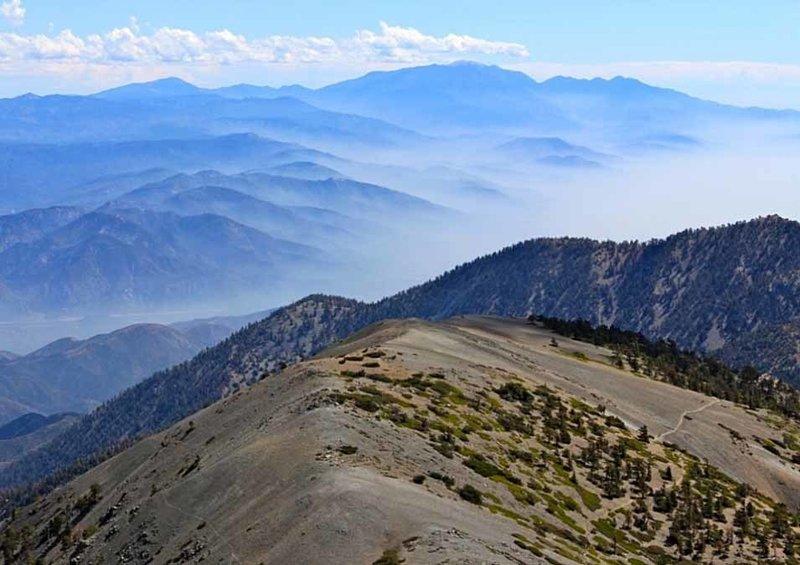 Summit of Mt. San Antonio facing south-east.