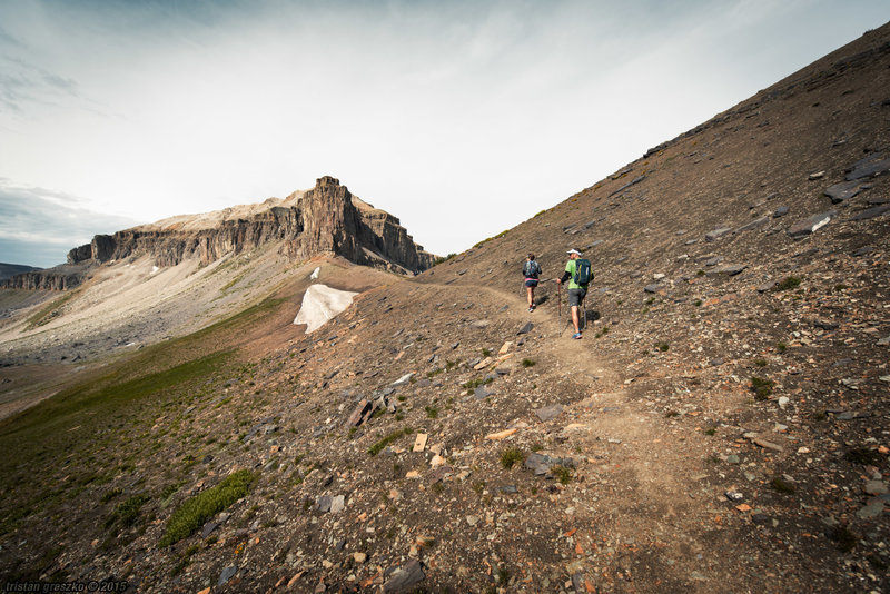 Nearing Alaska Basin and the edge of Grand Teton National Park on Buck Mountain Pass.