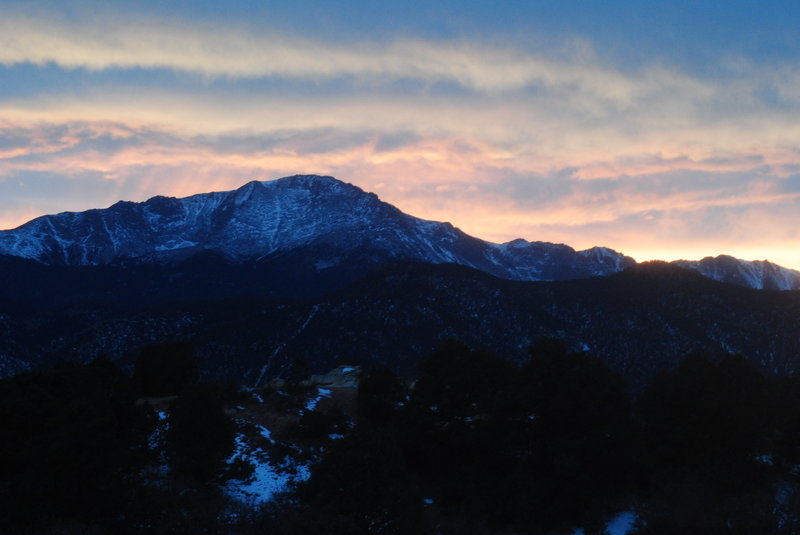 Pikes Peak from the east side of Garden of the Gods