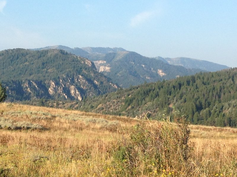 A view of the hills and cliffs that surround the area