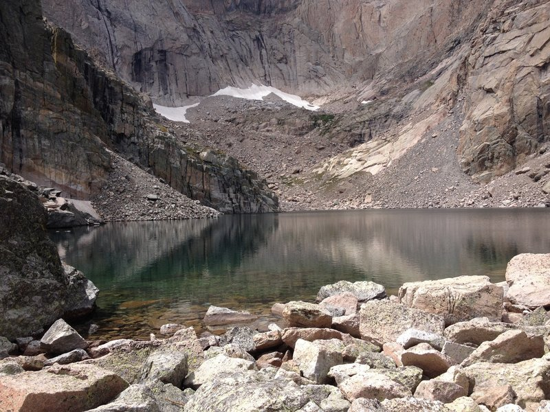 Reflection of Long's Peak in Chasm Lake
