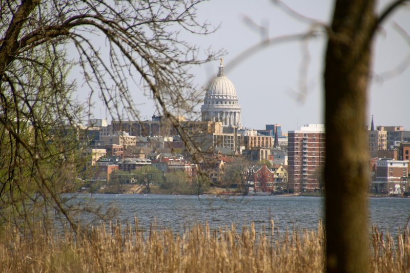 An early spring day, looking toward the Capitol.