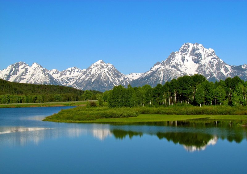The Cathedral Group from the Oxbow Bend.