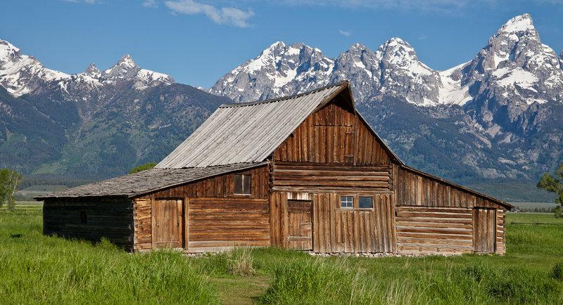 Mormon Barn, Antelope Flats Road, Jackson Hole, Wyoming