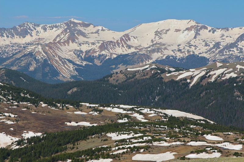 View towards Never Summer Mountains, Rocky Mountain NP