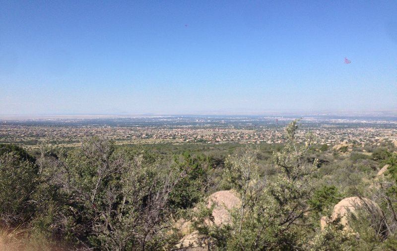 A nice view of Albuquerque shortly after beginning (or ending) the Domingo Vaca Trail portion.