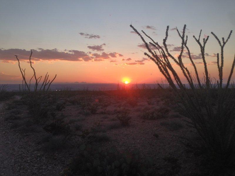 A high desert sunset along Worm.