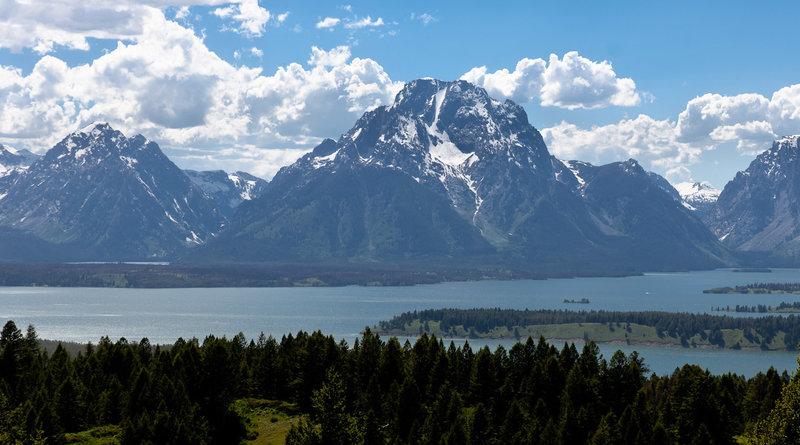 Mount Moran and Lake Jackson