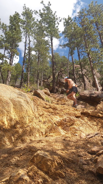 Pikes Peak Ultra course just before the slide on Seven Bridges!