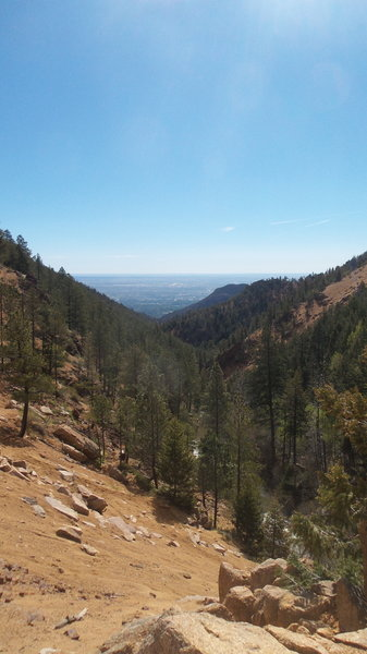 View of the city on Seven Bridges featured in Pikes Peak Ultra!