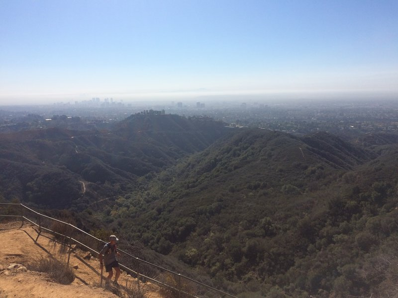 Best way to see Los Angeles.  Downtown LA on the left, Century City in the middle and Santa Monica on the right