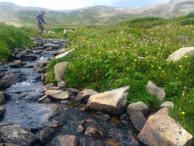 One of many creek crossings between Searle and Kokomo Passes